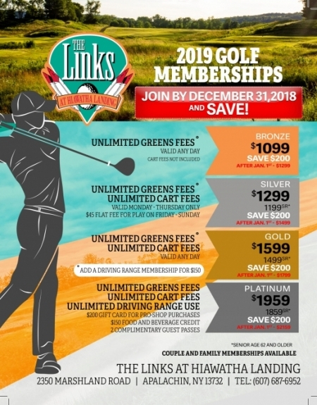 2019 LinksatHiawatha Memberships